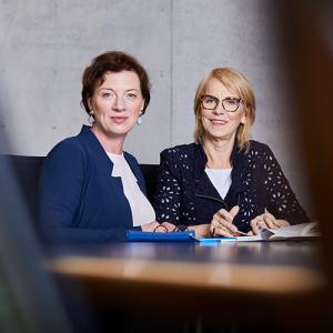 Sonja Hintermeier und Karin Kraus